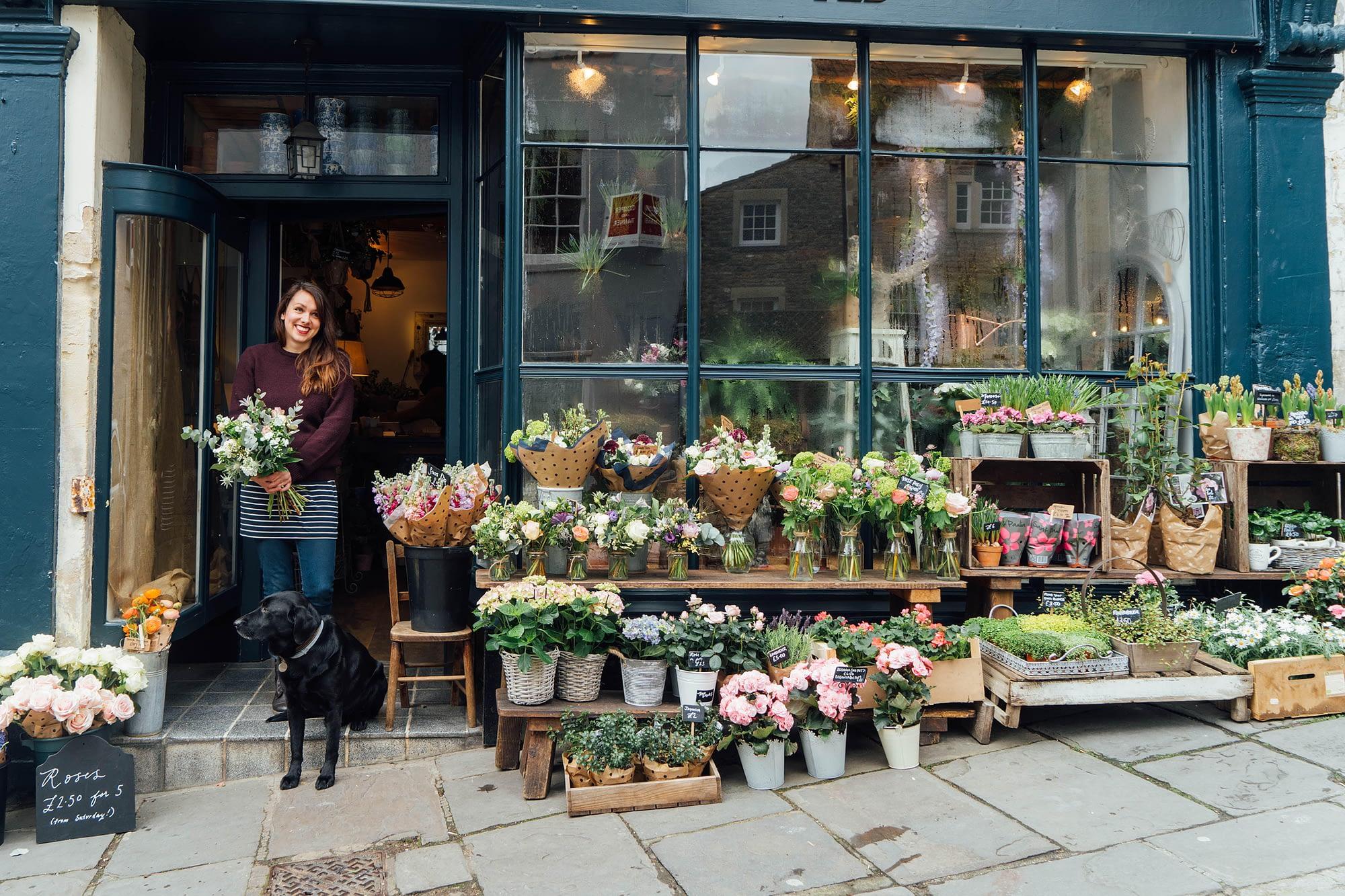 Grace Salter Haskins Bramble & Wild Running a High Street Florist Shop